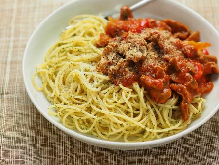 砂肝トマト煮パスタ01