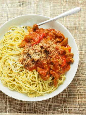 砂肝トマト煮パスタ05