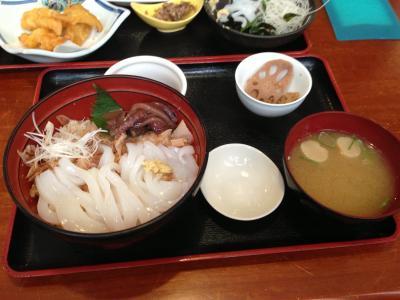 鳥取遠征 イカ定食