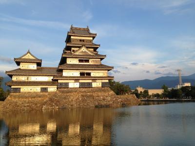 試合後に行った松本城