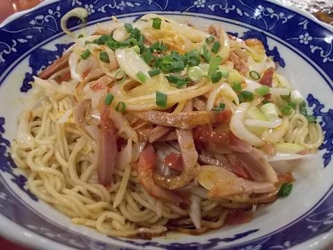 汁なしネギ叉焼麺