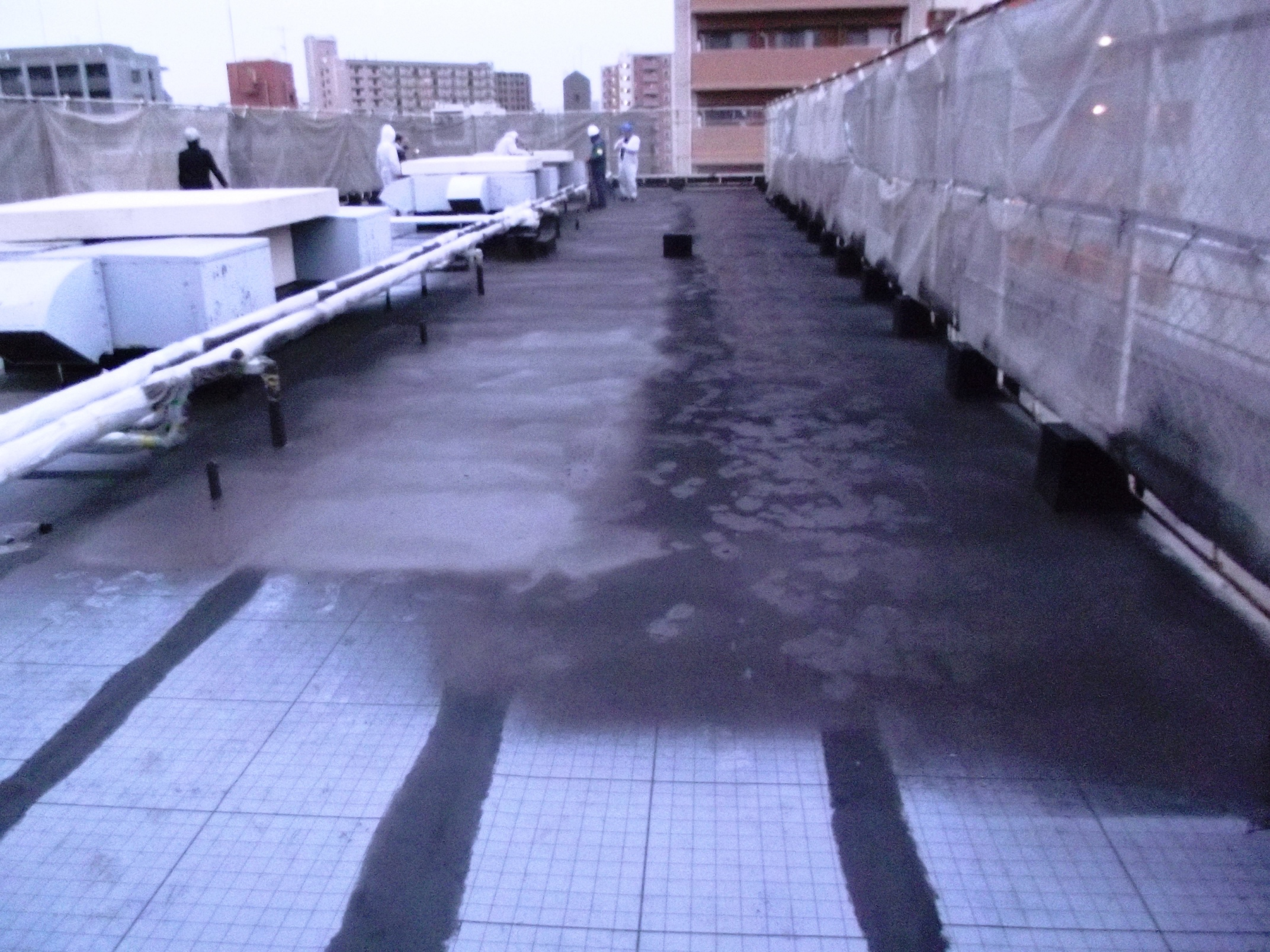 福岡ウェットスーツ施工風景