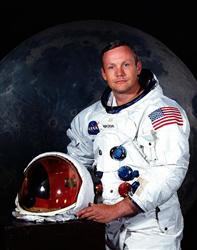 米宇宙船アポロ11号の船長だったニール・アームストロング氏(NASA提供)