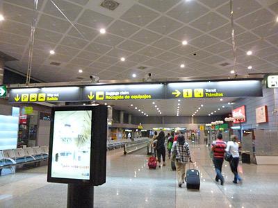 マドリッド空港に到着