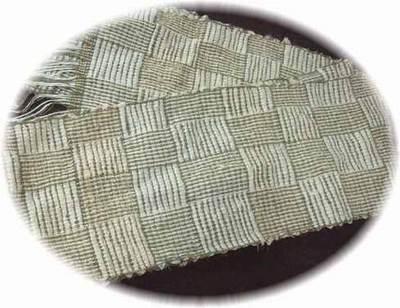 網代織りマフラー