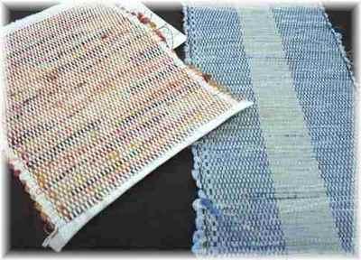 孫の裂き織り