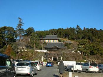 高麗神社-駐車待ちの車