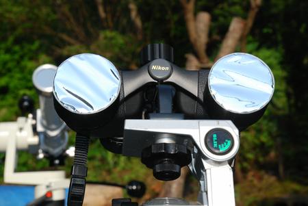望遠鏡に太陽フィルターを付けて21