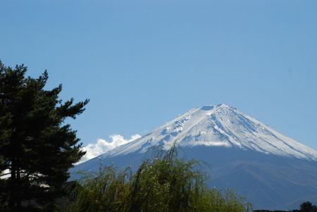 冨士河口湖に入りすぐの富士山1