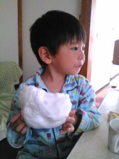 初めての綿菓子