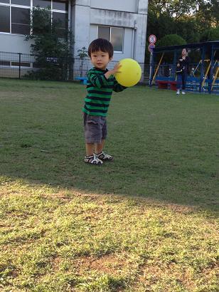 ボールをポン