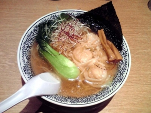 丸源 羽曳野店 海老ワンタン麺