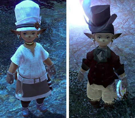 コック帽と変なシルクハット