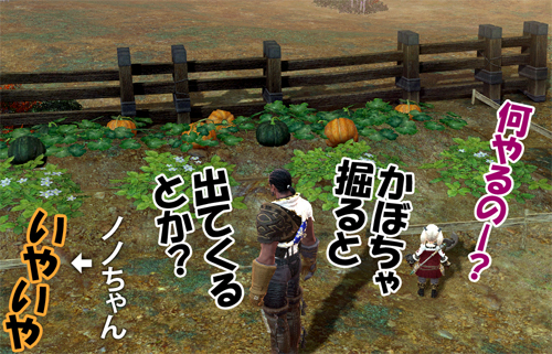 かぼちゃ掘ると出てくる?
