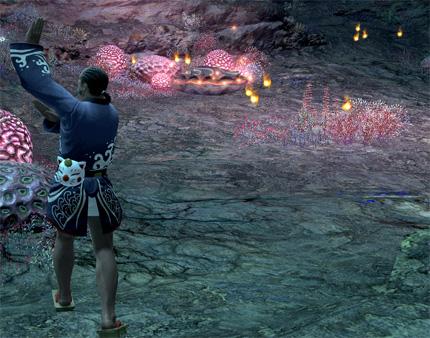 火の玉とボム踊り