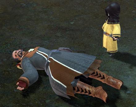 倒れるハイランダー