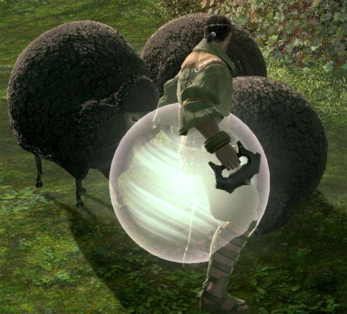黒羊の鼻ちょうちん