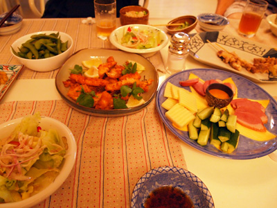 スタートラインの晩御飯