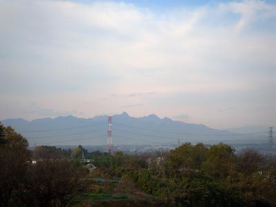 榛名山見えた