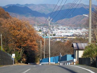 坂の上からの街並み
