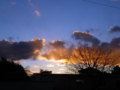 2012年最後の夕焼け