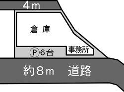 新生1丁目倉庫 事務所付