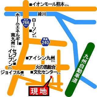 熊本市南区城南町舞原現地案内地図