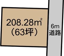 菊陽町原水の第一区画整理地内 売り土地