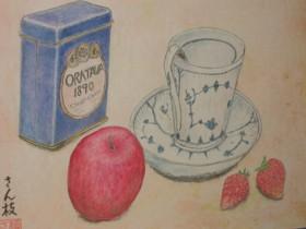 りんご&カップ