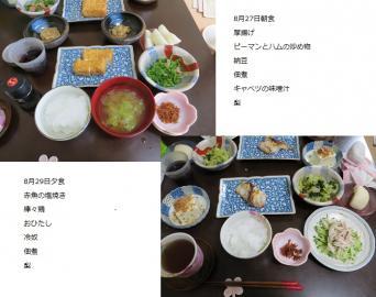 8-8-27日・29日食事