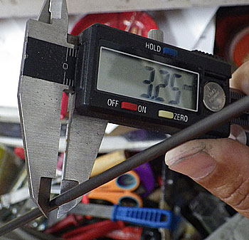 TIPから180mmのブランク直径