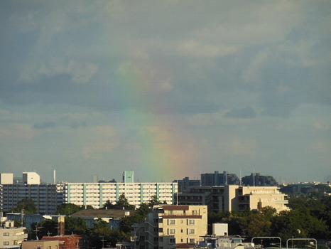 雲の中の虹