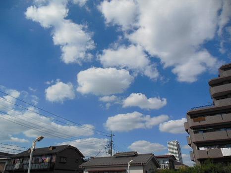 雲、秋だね