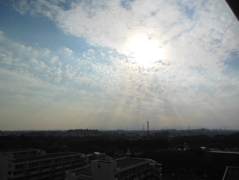 11月の初めの空