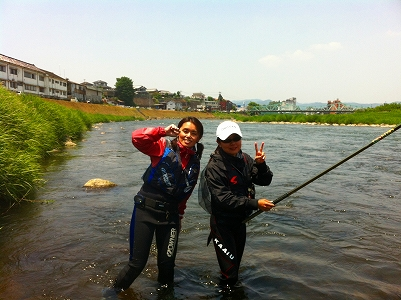 5月28日釣りガール