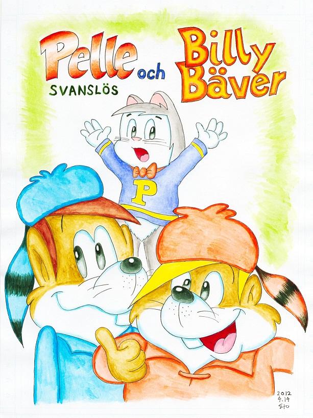 Pelle Svanslös och Billy Bäver 2012.4.14