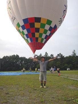 記念撮影気球た7.29