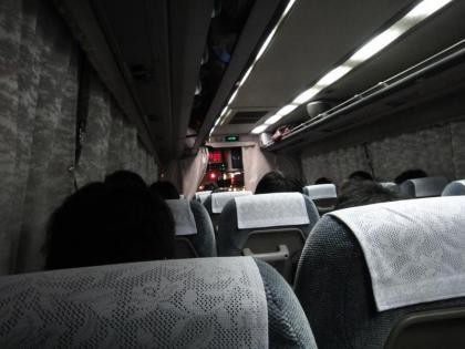 夜行バスで帰省