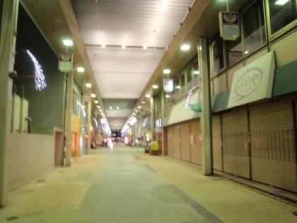 鳥取駅周辺の夜