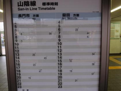 東萩駅時刻表