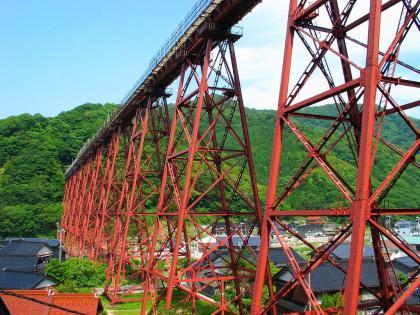 付け替え前の餘部鉄橋
