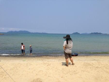 青タイツと海