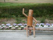 うおっち&ももの海水魚日記-木の人形
