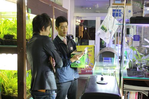 ADA営業 松本氏 東海 岐阜 熱帯魚 水草 観葉植物販売 Grow aquarium