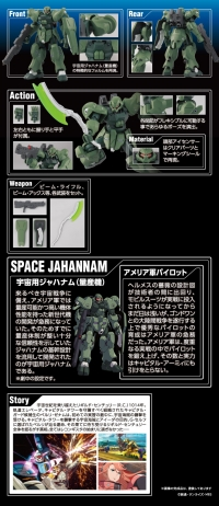 HG 宇宙用ジャハナム(量産型) のキット解説画像