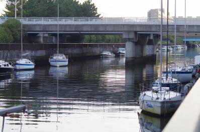 浜田川のヨット1