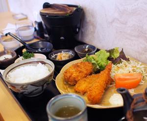 葵:コロッケ・フライ定食