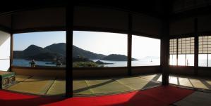 2010年1月4日 福山・鞆の浦 パノラマ写真(6) 対潮楼 3.6M(800)