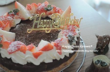 オットの誕生日に* 生チョコケーキ