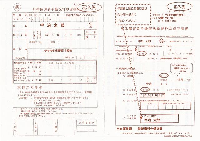障害者手帳申請書類の書き方